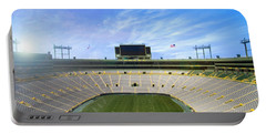 Portable Battery Charger featuring the photograph Calm Before The Game by Joel Witmeyer