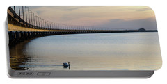 Calm Evening By The Bridge Portable Battery Charger