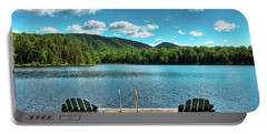 Calm In The Adirondacks Portable Battery Charger by David Patterson