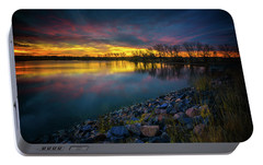 Portable Battery Charger featuring the photograph Calm by John De Bord