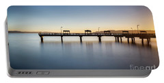 Calm Morning At The Pier Portable Battery Charger