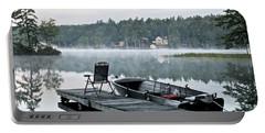 Calm Morning On Little Sebago Lake Portable Battery Charger
