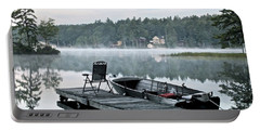 Calm Morning On Little Sebago Lake Portable Battery Charger