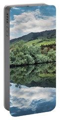 Calm Pond - Cloud Reflections II Portable Battery Charger