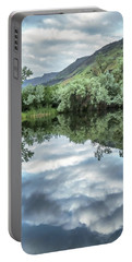 Calm Pond - Cloud Reflections Portable Battery Charger