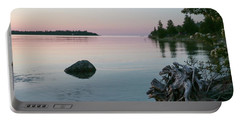Calm Water At Lake Huron Crystal Point Portable Battery Charger