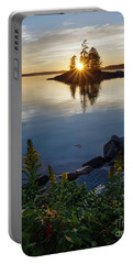 Calm Water At Sunset, Harpswell, Maine -99056-99058 Portable Battery Charger by John Bald