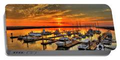 Portable Battery Charger featuring the photograph Calm Waters Bull River Marina Tybee Island Savannah Georgia by Reid Callaway