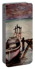 Portable Battery Charger featuring the painting Calm Waters by Lil Taylor