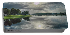Caloosahatchee At Daybreak Portable Battery Charger