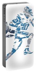 Calvin Johnson Detroit Lions Pixel Art 20 Portable Battery Charger