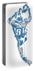 Calvin Johnson Detroit Lions Pixel Art 6 Portable Battery Charger