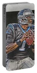 Cam Newton Carolina Panthers Art Portable Battery Charger