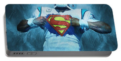 Cam Newton Superman Portable Battery Charger by Dan Sproul