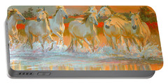 Camargue  Portable Battery Charger by William Ireland