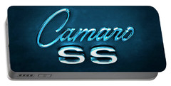Portable Battery Charger featuring the photograph Camaro S S Emblem by Mike McGlothlen
