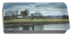 Cambuskenneth Abbey And The River Forth Portable Battery Charger by RKAB Works