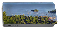 Portable Battery Charger featuring the photograph Camden Harbor, Camden, Maine  -33769-33774 by John Bald