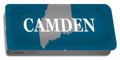 Portable Battery Charger featuring the photograph Camden Maine State City And Town Pride  by Keith Webber Jr