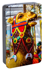 Camel Carrousel Ride Portable Battery Charger by Garry Gay