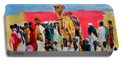 Camel Festival Portable Battery Charger by Khalid Saeed