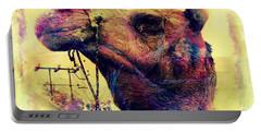 Camel Portrait Vintage Desert Rajasthan India Jaisalmer 7g Portable Battery Charger
