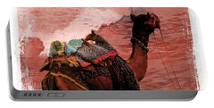 Camel Sand Dunes Thar Desert Rajasthan India 2a Portable Battery Charger