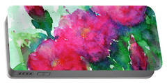 Camellia Abstract Portable Battery Charger