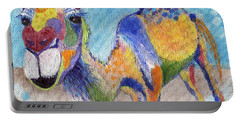 Portable Battery Charger featuring the painting Camelorful by Jamie Frier