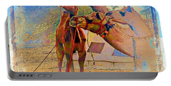 Camels Hanging Out India Rajasthan Desert 6a Portable Battery Charger