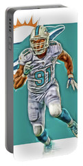 Cameron Wake Miami Dolphins Oil Art Portable Battery Charger