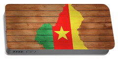 Cameroon Rustic Map On Woo Portable Battery Charger