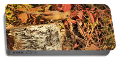 Portable Battery Charger featuring the photograph Camo Bird by Debbie Stahre