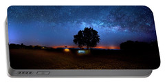 Portable Battery Charger featuring the photograph Camp Milky Way by Mark Andrew Thomas