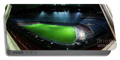 Camp Nou At Night Portable Battery Charger