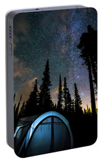 Portable Battery Charger featuring the photograph Camping Star Light Star Bright by James BO Insogna