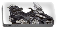 Portable Battery Charger featuring the painting Can-am Spyder Trike by Jack Pumphrey
