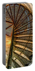 Cana Island Lighthouse Staircase Portable Battery Charger