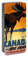 Canada Big Game Vintage Travel Poster Restored Portable Battery Charger
