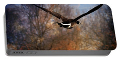 Portable Battery Charger featuring the photograph Canada Goose by Pennie  McCracken