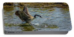 Canada Goose Takes Flight, Frank Lake, Alberta, Canada Portable Battery Charger