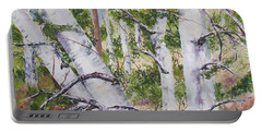 Canadian Birch Trees Portable Battery Charger