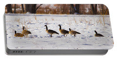 Canadian Geese At Sunrise II Portable Battery Charger
