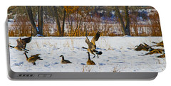 Canadian Geese At Sunrise IIi Portable Battery Charger