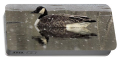Canadian Goose In Michigan Portable Battery Charger