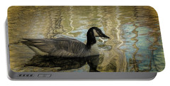 Canadian Goose Portable Battery Charger by Steven Richardson