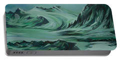 Canadian North Portable Battery Charger by Anna  Duyunova