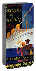 Canadian Pacific - Hamburg-berlin - Empress Of Britain - Retro Travel Poster - Vintage Poster Portable Battery Charger