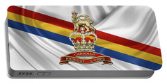Canadian Provost Corps - C Pro C Badge Over Unit Colours Portable Battery Charger by Serge Averbukh