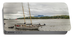 Portable Battery Charger featuring the photograph Canadian Sailing Schooner by Timothy Latta